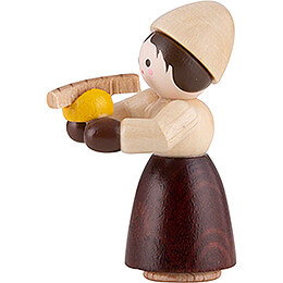 Thiel Figurine - Girl with Bratwurst - natural - 4 cm / 1.6 inch