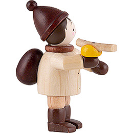 Thiel Figurine - Boy with Bratwurst - natural - 4,6 cm / 1.8 inch