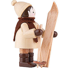 Thiel-Figur Skiträger senkrecht - natur - 5,5 cm