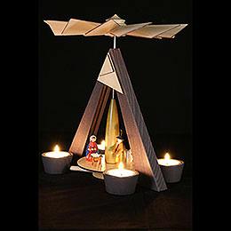 1-Tier Pyramid - Nativity, Grey - 29 cm / 11.4 inch