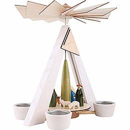 1-Tier Pyramid - Nativity, White - 29 cm / 11.4 inch
