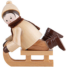 Thiel Figurine - Bobsleigh Rider lying - natural - 5 cm / 2 inch