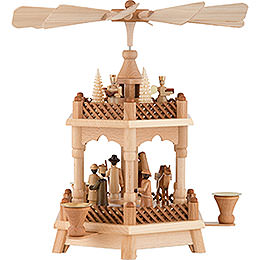 2-Tier Pyramid - Nativity - 32 cm / 13 inch