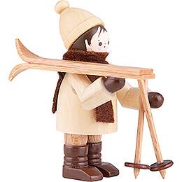 Thiel Figurine - Ski Carrier horizontal - natural - 5,5 cm / 2.2 inch