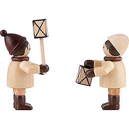 Thiel Figurines - Lantern Children - natural - Set of Two - 5 cm / 2 inch