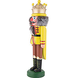 Nutcracker - King with Crown Chartreuse Matt - 43 cm / 16.9 inch