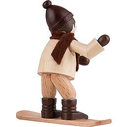 Thiel Figurine - Winter Child with Snowboard - natural - 6,5 cm / 2.6 inch