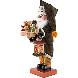 Nutcracker - Santa Green with Basket - 48 cm / 18.9 inch