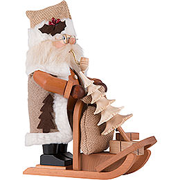 Smoker - Santa Claus with Sleigh - 28,0 cm / 11 inch