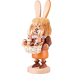 Smoker - Gnome Hare with Babies - 34,5 cm / 13.6 inch