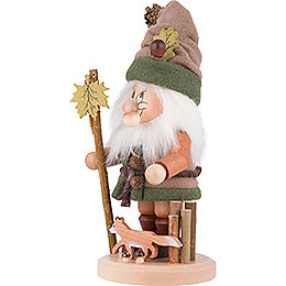 Smoker - Gnome with Fox - 34 cm / 13.4 inch