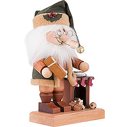 Smoker - Gnome Santa with Fire Place - 28,5 cm / 11.2 inch