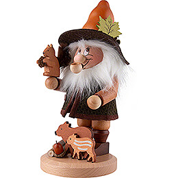 Smoker - Gnome Wild Animal Lover - 33,5 cm / 13.2 inch
