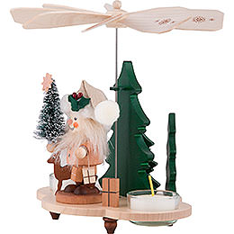 1-stöckige Pyramide Weihnachtsmann - 19,5 cm