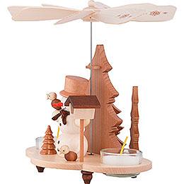 1-Tier Pyramid - Snowman - 19,5 cm / 8 inch