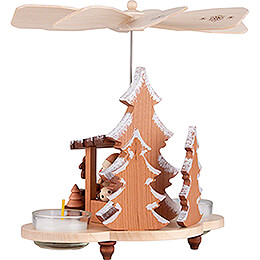 1-Tier Pyramid Santa at the Striezel Market Natural - 19,5 cm / 7.7 inch