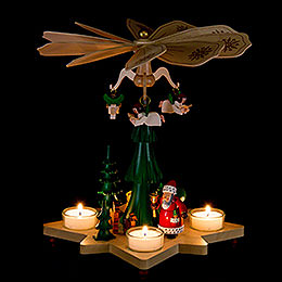 1-stöckige Pyramide Weihnachtsmann - 27 cm