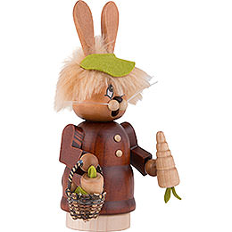 Smoker - Mini Gnome Bunny with Carrot - 16,5 cm / 6.5 inch