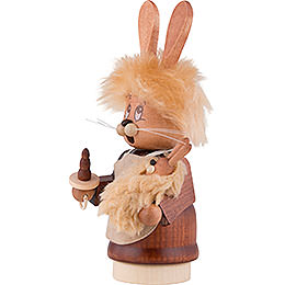 Smoker - Mini-Gnome Bunny Girl with Baby - 16 cm / 6.3 inch
