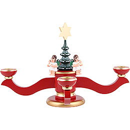 Candle Holder - Advent Red - 20,0 cm / 8 inch