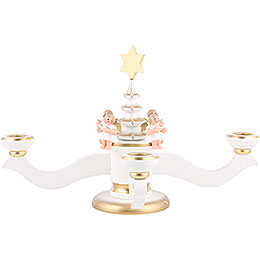 Candle Holder - Advent White - 20,0 cm / 8 inch