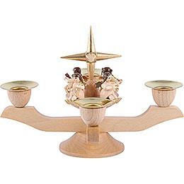 Leuchter mit Engeln - gold - 12 cm