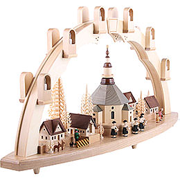 Candle Arch - Seiffen Church with Village - 31x16 inch - 80x41 cm / 16.1 inch
