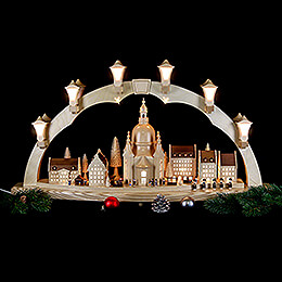 Candle Arch - Church of Our Lady with Christmas Fair - 41x17 inch - 80x43 cm / 16.9 inch