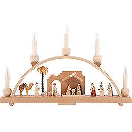 Candle Arch - Nativity Scene - 19x11 inch - 48x28 cm / 11 inch