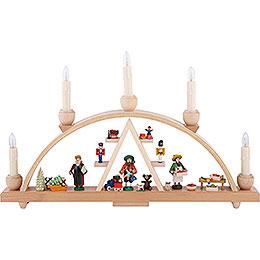 Schwibbogen Seiffener Weihnachtsmarkt - 48x28 cm