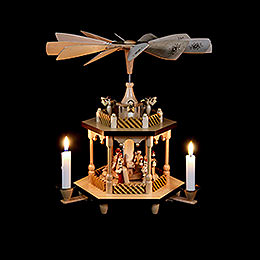 2-Tier Pyramid - Nativity Scene - 32 cm / 13 inch