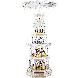 5-Tier Pyramid - Nativity with Musical Mechanism - 123 cm / 9.1 inch