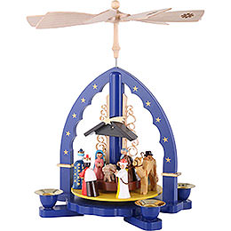 1-Tier Pyramid - Three Wisemen - Blue - 27 cm / 11 inch