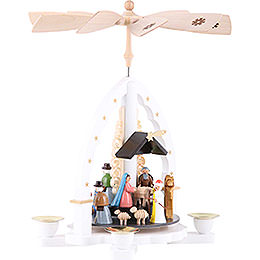 1-Tier Pyramid - Three Wisemen - White - 27 cm / 11 inch