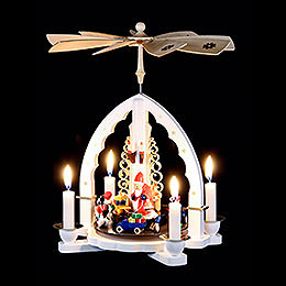 1-Tier Pyramid - The Giving - White - 27 cm / 11 inch