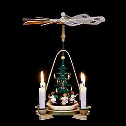 1-Tier Pyramid - Angel with Christmas Tree - 25 cm / 9.8 inch