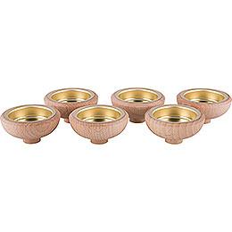 Adapter für Teelicht 1,7 cm - 6er Set