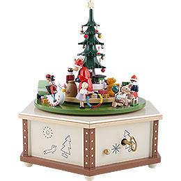 Spieldose Weihnachtsbescherung - 24 cm