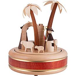Spieldose Christi Geburt - Naturholzdesign - 18 cm