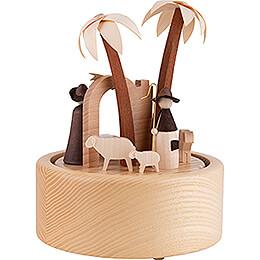 Music Box - Nativity - Natural Wood Design - 18 cm / 7.1 inch