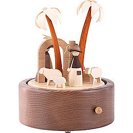 Music Box Nativity, Plays 'Silent Night' - 18 cm / 7.1 inch