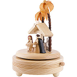 Spieldose Christi Geburt - hell - 18 cm