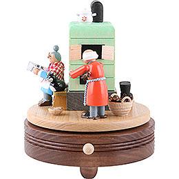 Spieldose Feierabend am Rauchofen - 15 cm