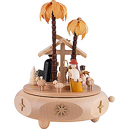 Spieldose Christi Geburt - 17 cm