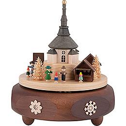 Spieldose Seiffener Weihnachtsmarkt - 16 cm