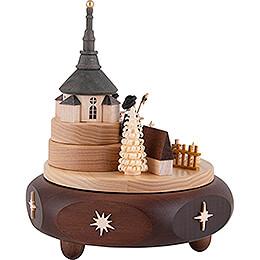 Spieldose Seiffener Kirchdorf mit Kurrende - 17 cm