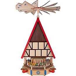 4-stöckiges Adventshaus - Die Ankunft - 78 cm