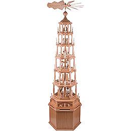 Pedestal for Pyramids Hexagonal Natural - 36 cm / 14.2 inch