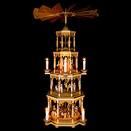 4-Tier Pyramid - Nativity Scene - 94 Cm/37 inch