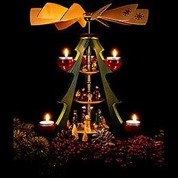 3-stöckige Pyramide Baum - Christi Geburt - 40 cm